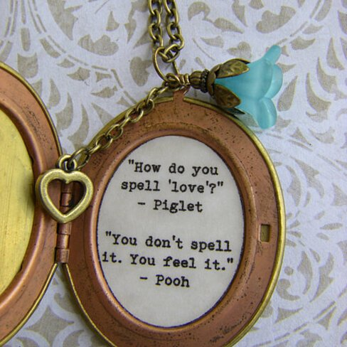 Buy Pooh Quote Friendship Locket How Do You Spell Love