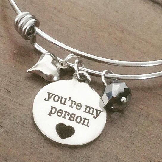 buy you re my person bracelet grey s anatomy inspired
