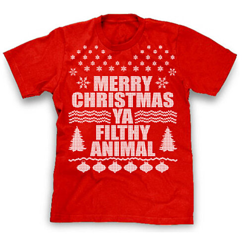Merry christmas ya filthy animal shirt ugly christmas sweater shirt