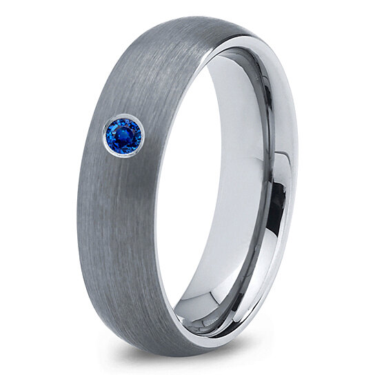 buy tungsten wedding band 6mm mens wedding bands blue