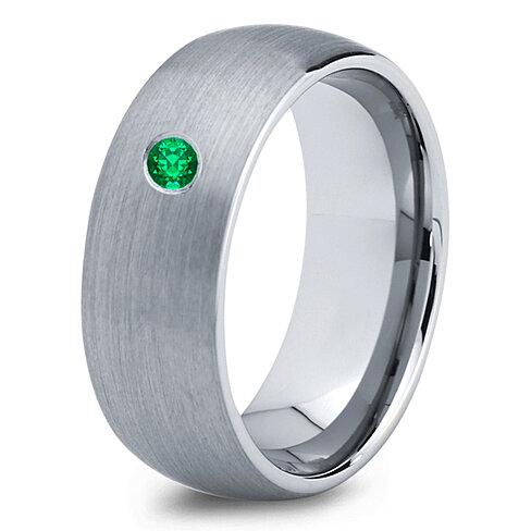 buy tungsten wedding band 8mm mens wedding bands green