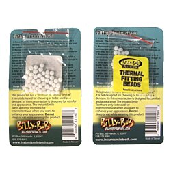 8 PACKAGES OF EXTRA ADHESIVE BEADS FOR FAKE TEETH billy bob thermal fitting bead