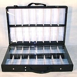 COVERED 32 PR SUNGLASS DISPLAY BRIEFCASE sales trays sunglass sales displays NEW
