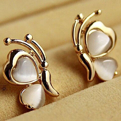 eb31dbc2e 1 Pair Women's Fashion Butterfly Gold Plated Ear Stud Earrings Jewelry  Charms · Shop more products