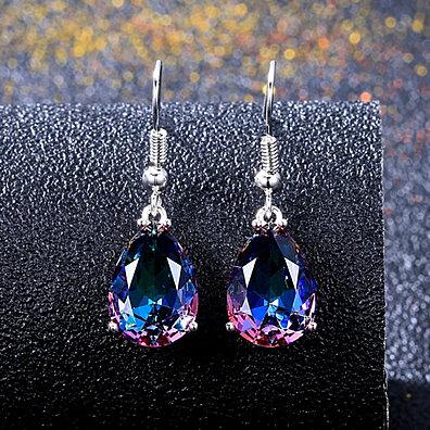 96d85a205 Fashion Multicolor Faux Gem Waterdrop Pear Hook Earrings Party Jewelry  Eardrop