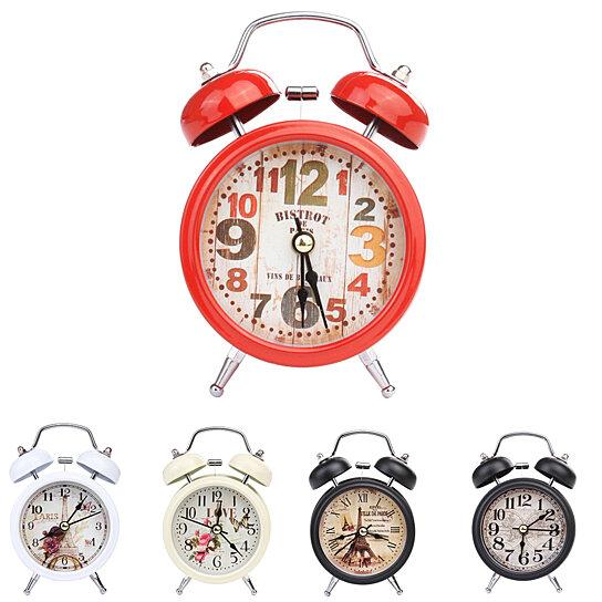 Buy Household Retro Alarm Clock Round Number Bell Desk