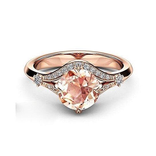 Buy 18 K Rose Gold Filled Ring New Birthday Gift Engagement