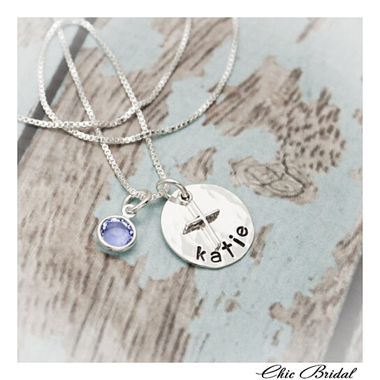 18th Birthday Necklace Sterling Silver Custom Birthstone: Buy Birthstone Charm Personalized Gift Hand Stamped