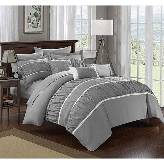 Buy Chic Home 10 Piece Aero Pleated & Ruffled Bed In A Bag