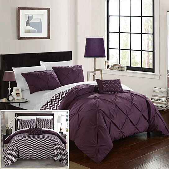 home in grey bed deal pleat king sets pinch pleated unique a comforter lucilla shop amazing piece bag
