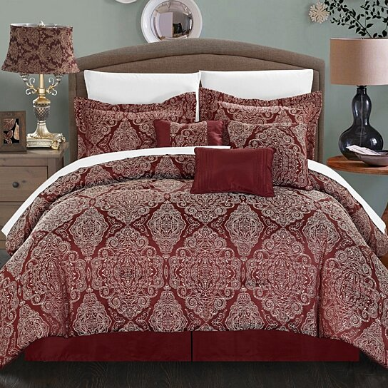 buy chic home 7 banke embossed traditional jacquard