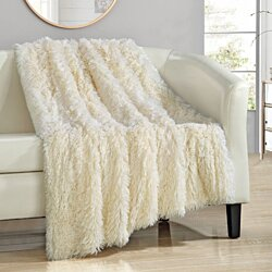 Chic Home Alaska Shaggy Faux Fur Supersoft Ultra Plush Throw Blanket