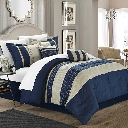 Buy Chic Home Coralie 6 Piece Comforter Set Hotel Collection By Chic