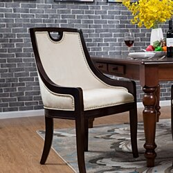 Chic Home Owen Neo Traditonal Velvet Nailhead Dining Side Chair