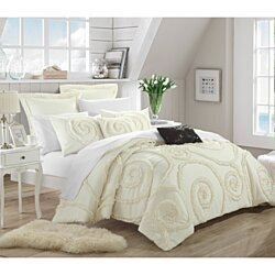 Chic Home Rosalinda 7-Piece Ruffled Embroidered Comforter Set, Mult. Colors