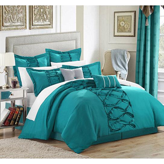 Buy Chic Home Rossana 8-Piece Ruffled Comforter Set,Shams