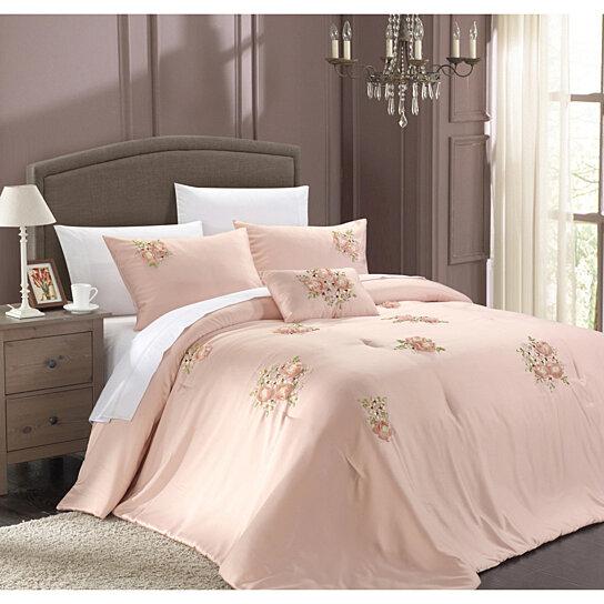 Rose Gold And White Dorm Room