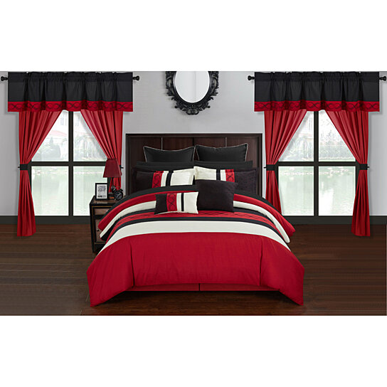 Buy Chic Home Yair 24 Piece Comforter Set Color Block