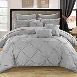 Alvatore Pinch Pleated Bed in a Bag Comforter Set