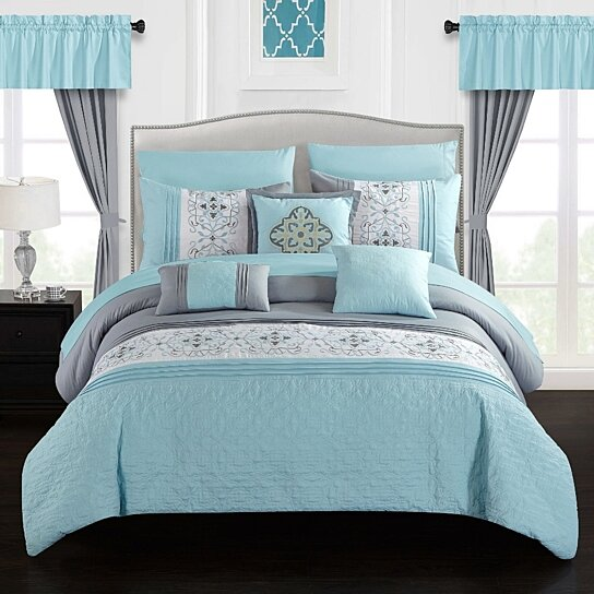 Buy Jurgen 20 Piece Comforter Set Color Block Floral