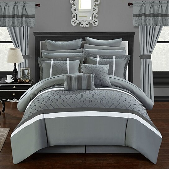 Buy Topaz 24 Piece Comforter Bed In A Bag Pleated Ruffled Designer