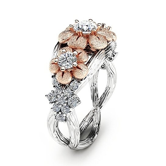 39fda076aa Buy Exquisite Women's Ring Vintage 18K Rose Gold Lucky Flower Gift Cocktail  Party Bridal Wedding Rings by Choice on OpenSky