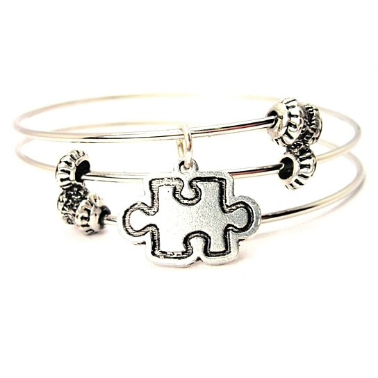 Buy Chubby Chico Charms Outline Style Puzzle Piece Charm ...