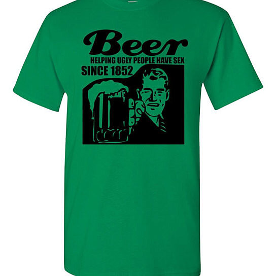 Buy Beer Helping Ugly People Have Sex Since 1852 Adult T-Shirt Tee by ...: https://www.opensky.com/cityshirts/product/beer-helping-ugly-people-have-sex-since-1852-adult-t-shirt-tee?configurationId=5350059c3337d0b613000c32