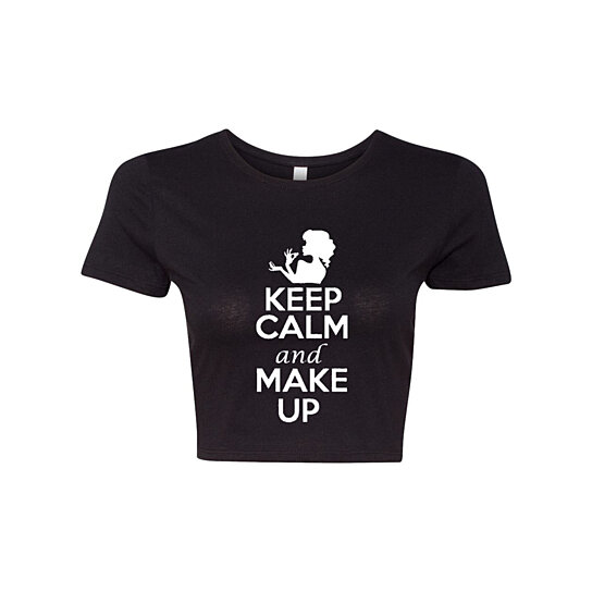 Buy Crop Top Ladies Keep Calm And Make Up Beauty Funny