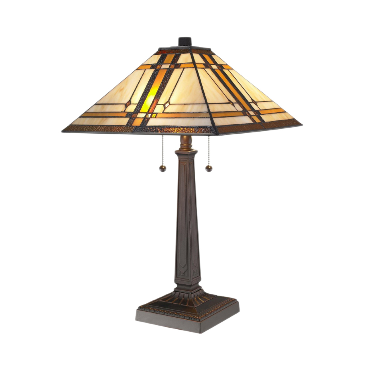 Amora Lighting Am1053Tl14 Tiffany Style Mission Table Lamp 22 Inches Tall