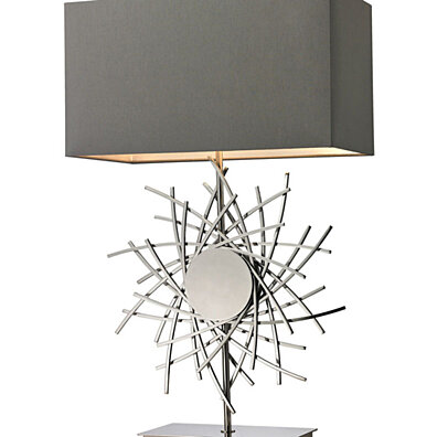 Dimond Lighting Cesano Abstract Formed Metalwork LED Table Lamp in Polished Nickel