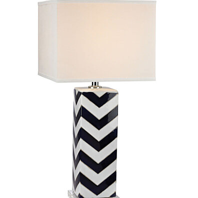 Dimond Lighting Chevron LED Table Lamp in Navy