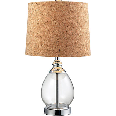 Dimond Lighting Clear Glass LED Table Lamp in Polished Chrome