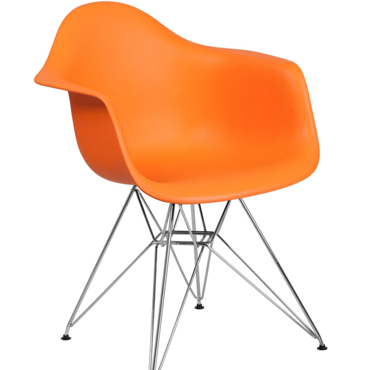 Flash Furniture Alonza Series Plastic Chair With Chrome Base, Orange