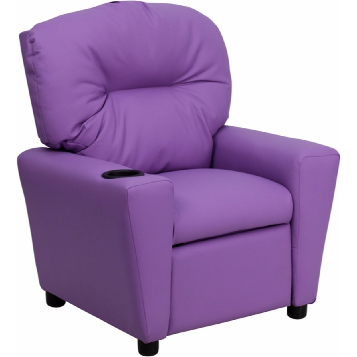 Flash Furniture Contemporary Lavender Vinyl Kids Recliner with Cup Holder [863-Bt-7950-Kid-Lav-Gg] 59e46011e224613cc0691993