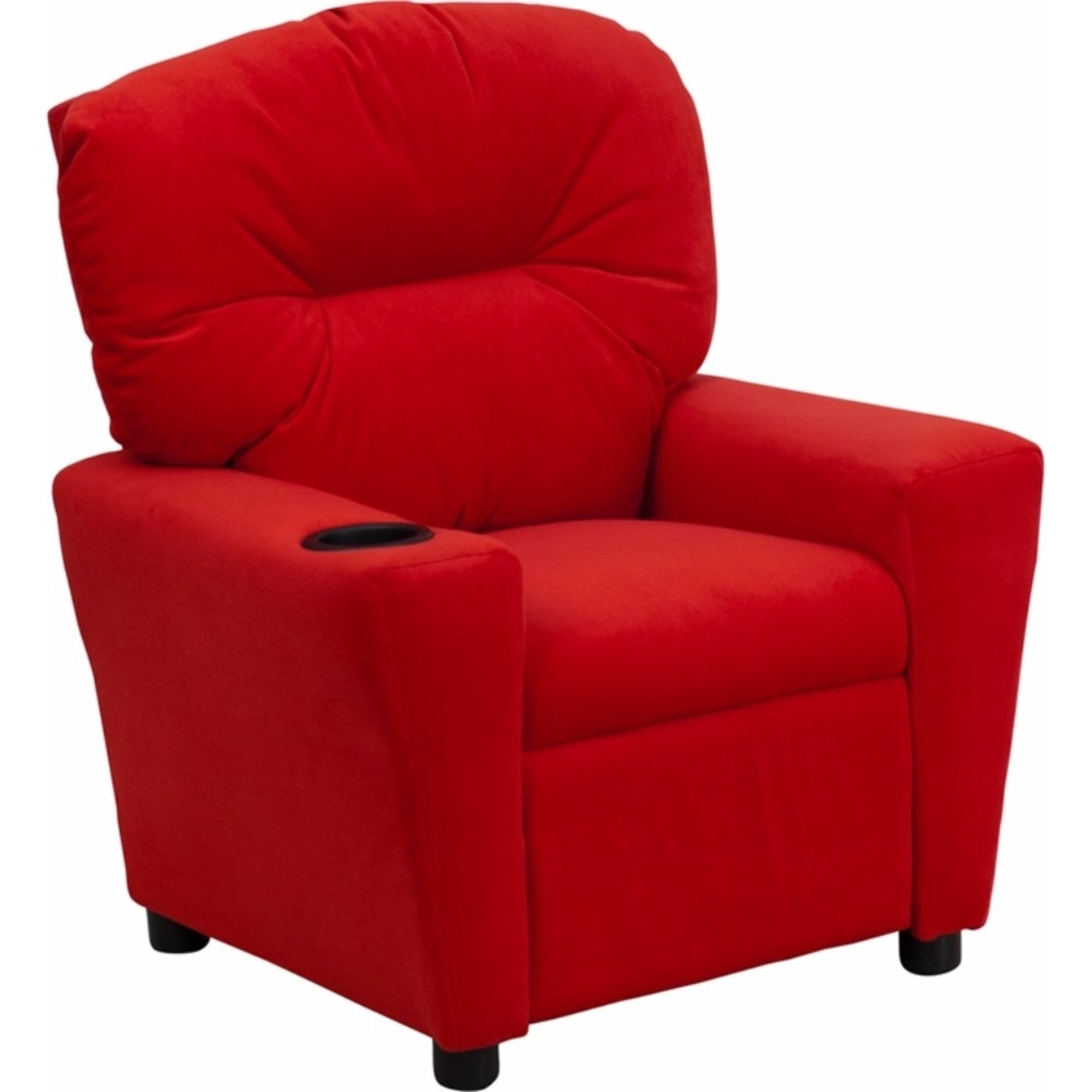 Flash Furniture Contemporary Red Microfiber Kids Recliner with Cup Holder [863-Bt-7950-Kid-Mic-Red-Gg] 59e46012e224613cbd384382