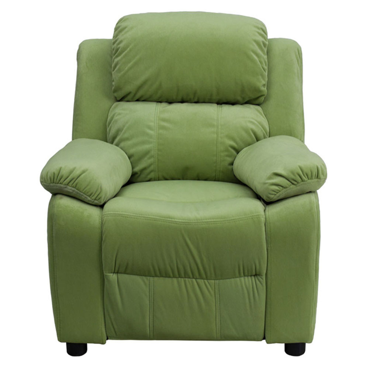 Flash Furniture Deluxe Heavily Padded Contemporary Avocado Microfiber Kids Recliner with Storage Arms [863-Bt-7985-Kid-Mic-Avo-Gg] 59e46012e224613cbd38439a