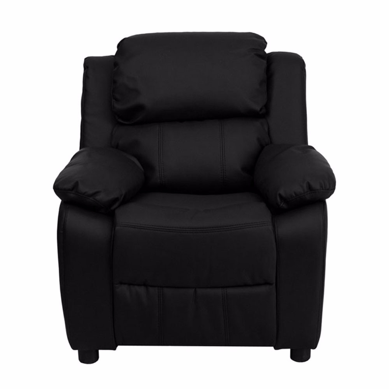 Flash Furniture Deluxe Heavily Padded Contemporary Black Leather Kids Recliner with Storage Arms [863-Bt-7985-Kid-Bk-Lea-Gg] 59e46012e224613cbd38438e
