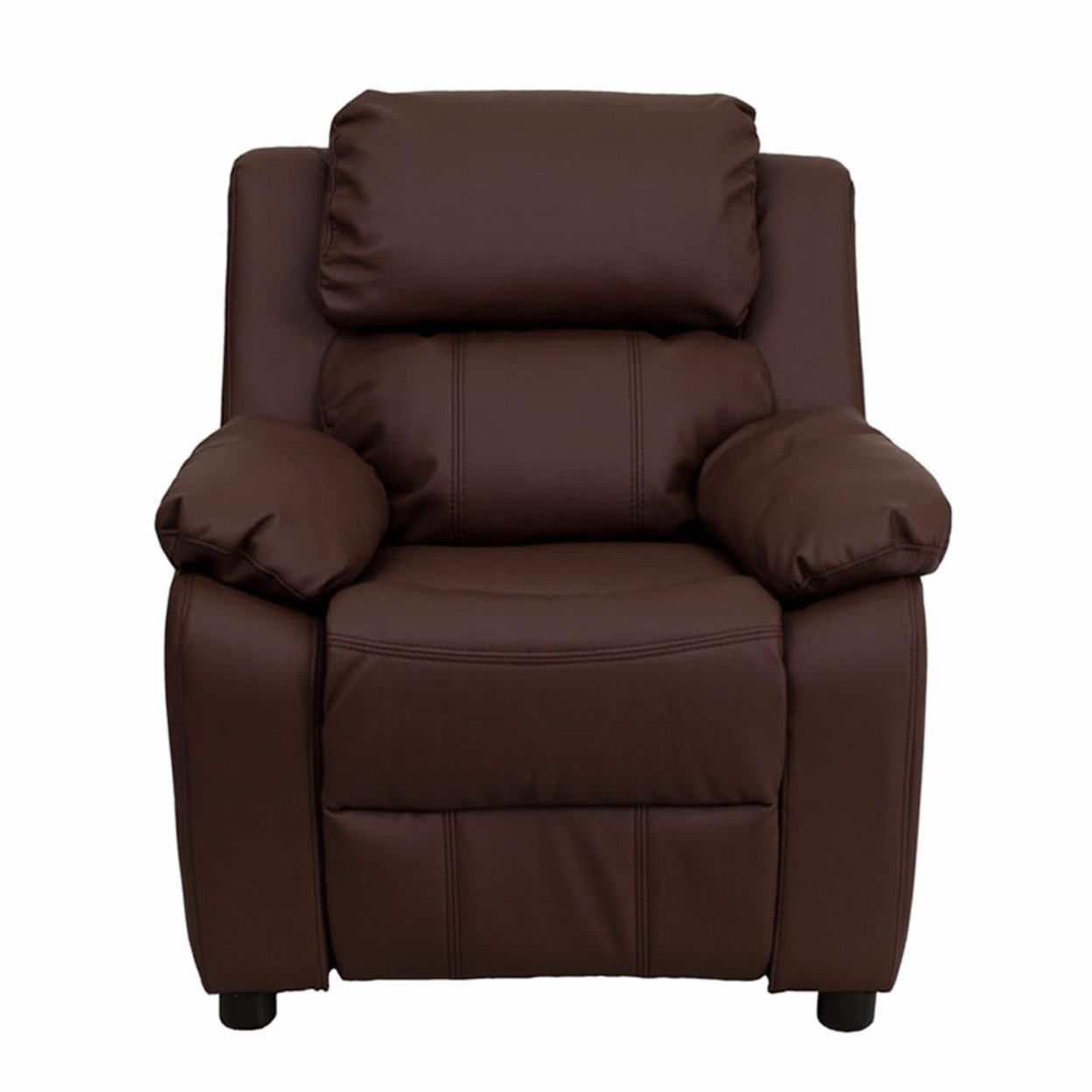 Flash Furniture Deluxe Heavily Padded Contemporary Brown Leather Kids Recliner with Storage Arms [863-Bt-7985-Kid-Brn-Lea-Gg] 59e46012e224613cc06919b1