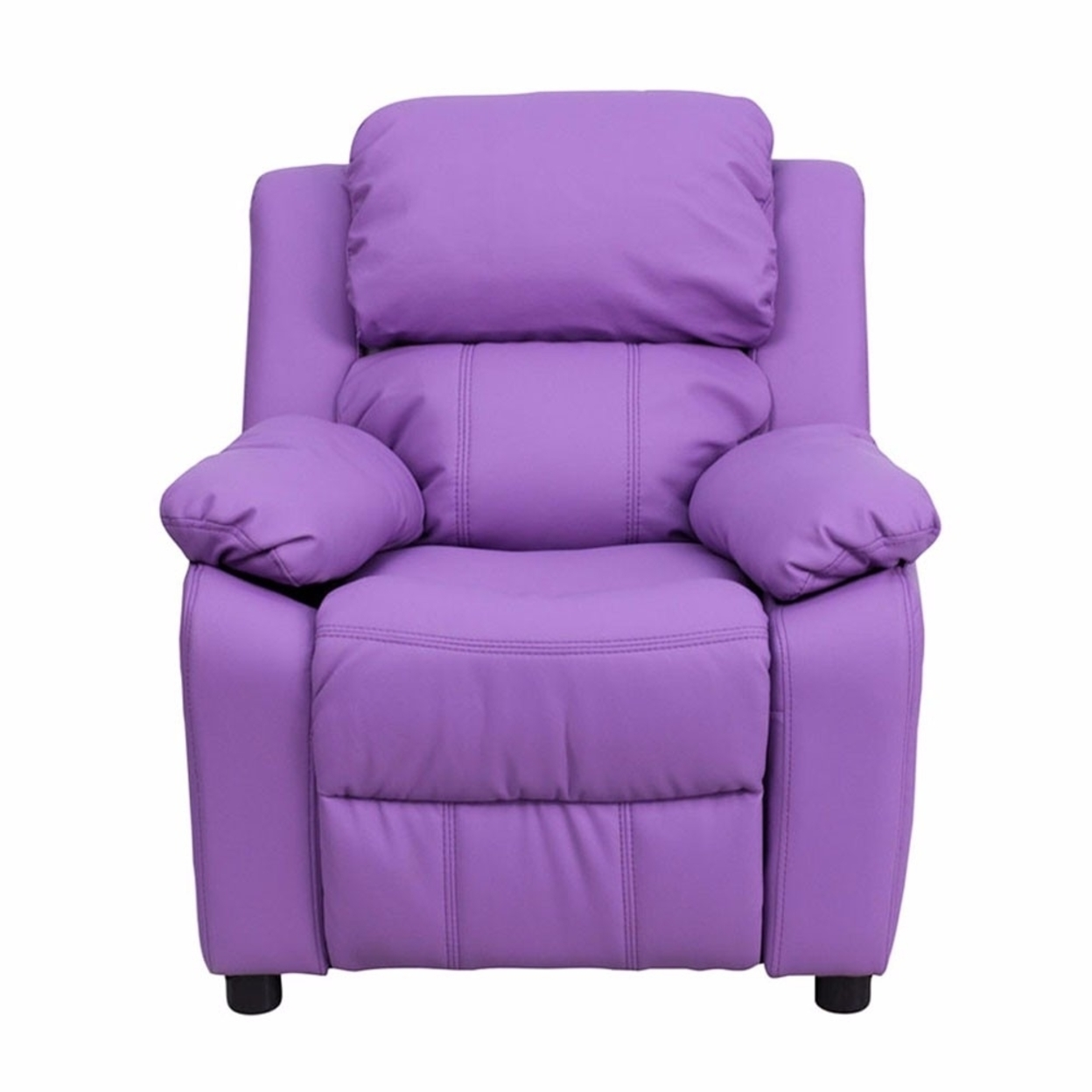 Flash Furniture Deluxe Heavily Padded Contemporary Lavender Vinyl Kids Recliner with Storage Arms [863-Bt-7985-Kid-Lav-Gg] 59e460122a00e43b6679adcb