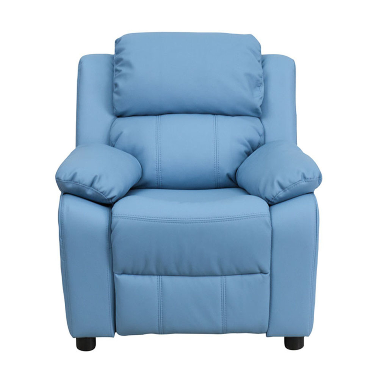 Flash Furniture Deluxe Heavily Padded Contemporary Light Blue Vinyl Kids Recliner with Storage Arms [863-Bt-7985-Kid-Ltblue-Gg] 59e460122a00e4389e724db4