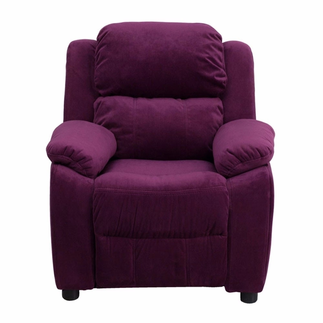 Flash Furniture Deluxe Heavily Padded Contemporary Purple Microfiber Kids Recliner with Storage Arms [863-Bt-7985-Kid-Mic-Pur-Gg] 59e46013e224613cc06919bd