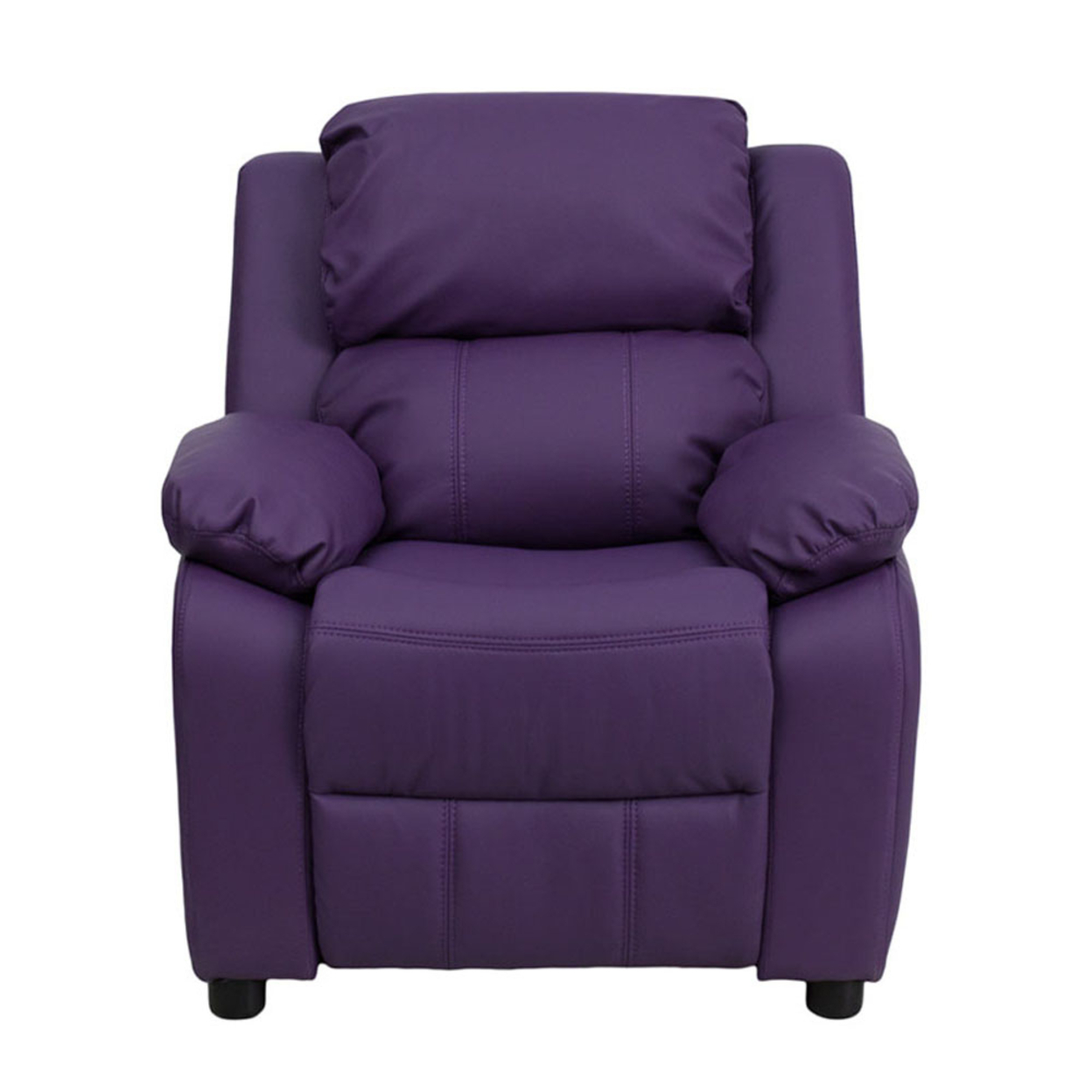 Flash Furniture Deluxe Heavily Padded Contemporary Purple Vinyl Kids Recliner with Storage Arms [863-Bt-7985-Kid-Pur-Gg] 59e46013e2246142ce45d075