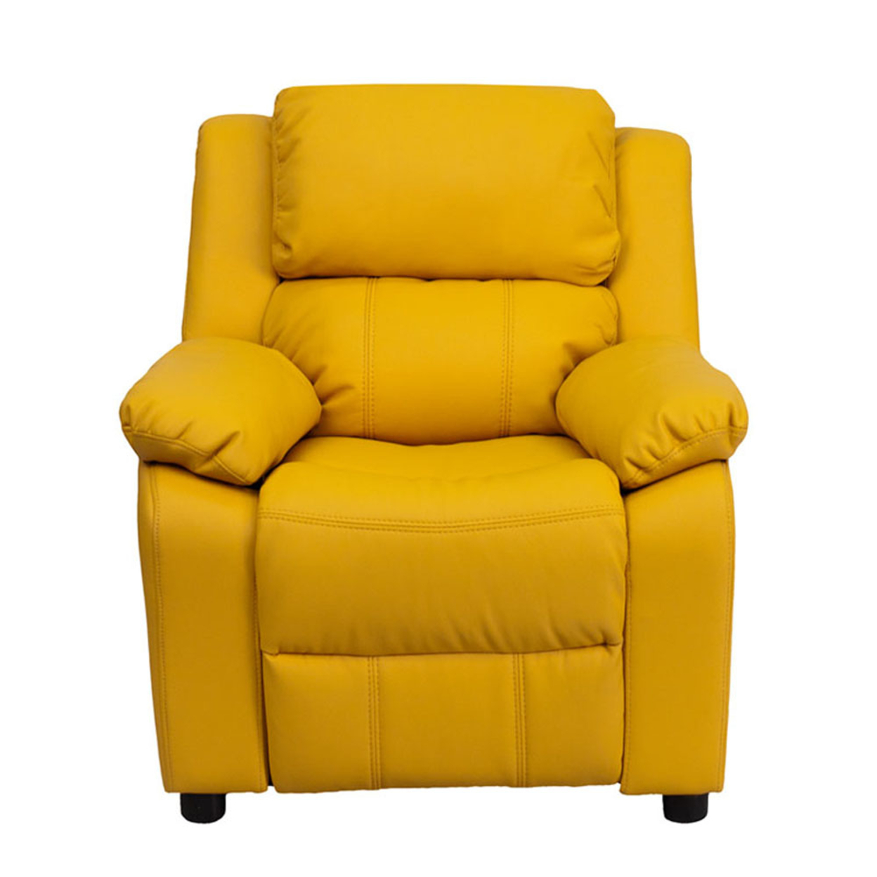 Flash Furniture Deluxe Heavily Padded Contemporary Yellow Vinyl Kids Recliner with Storage Arms [863-Bt-7985-Kid-Yel-Gg] 59e46013e224613cc06919c9