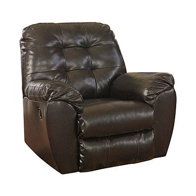 Flash Furniture Signature Design By Ashley Alliston Rocker Recliner In  Chocolate DuraBlend [863 FSD 2399REC CHO GG]