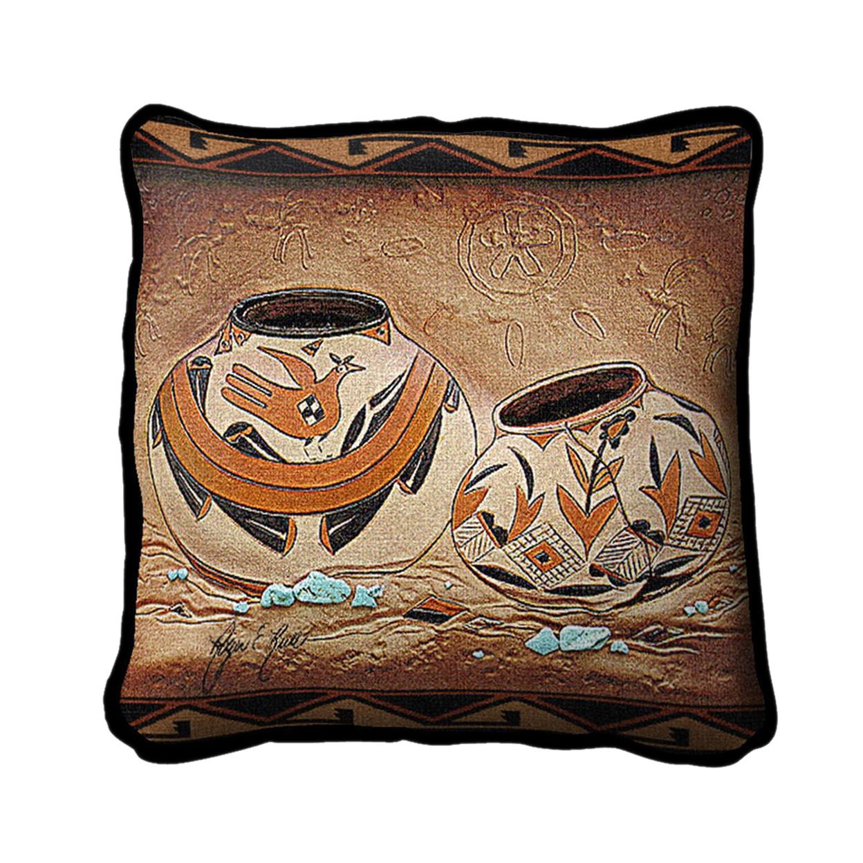 Pure Country Weavers Home Decorative Zuni Pottery Pillow 596612012a00e4726e00a3c0