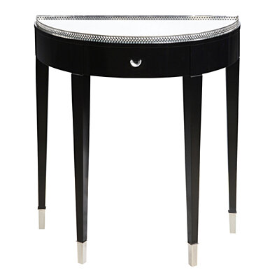 Sterling Black Tie Hall Table   Black/Chrome/Clear