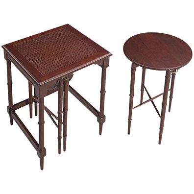 Sterling Mindoro Nesting Tables   Antique Cherry