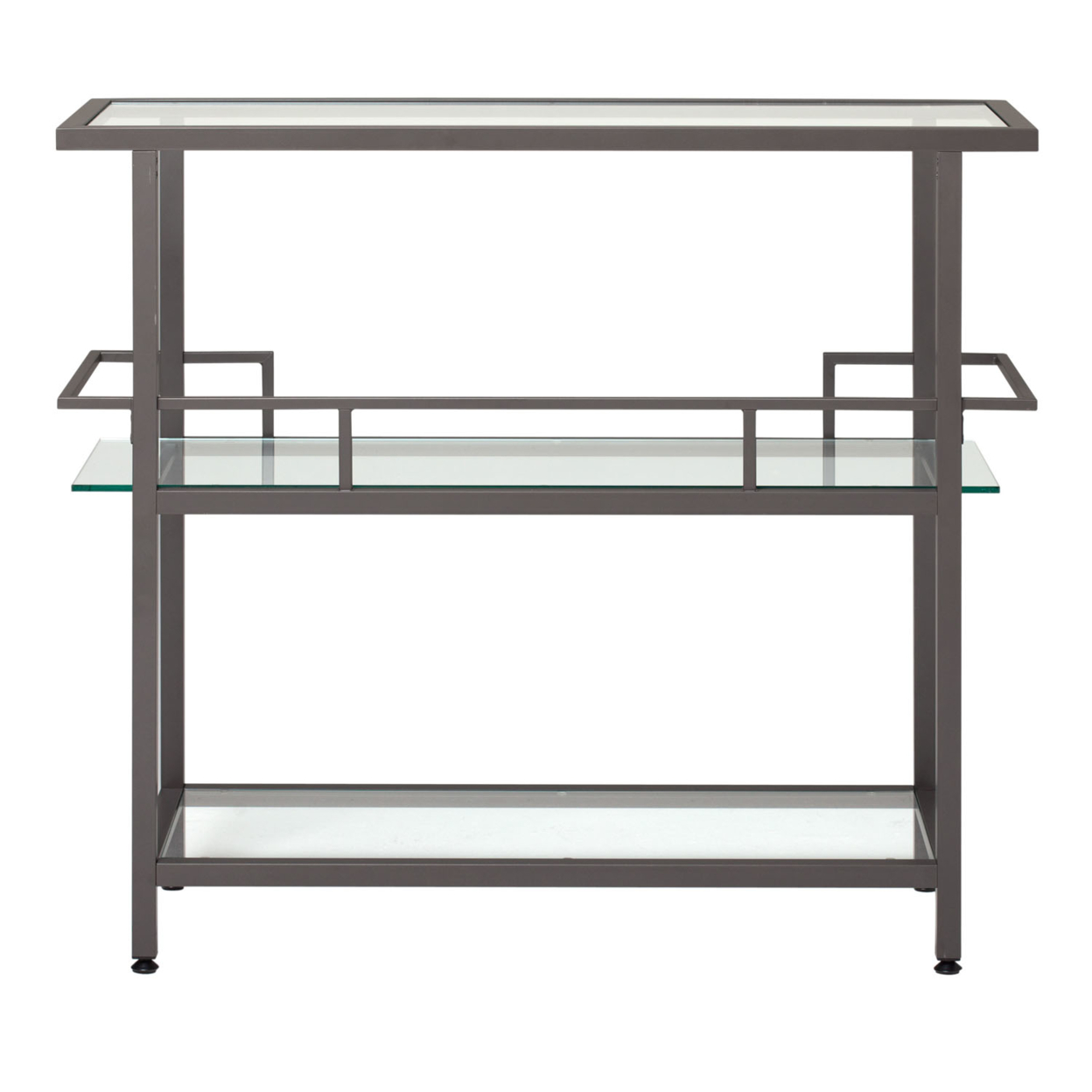 Studio Designs Home Office Piloti Bar – Pewter/Clear Glass