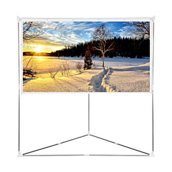 100 inch 16:9 Projector Screen with Triangle Stand, Outdoor & Indoor Compatible Protable